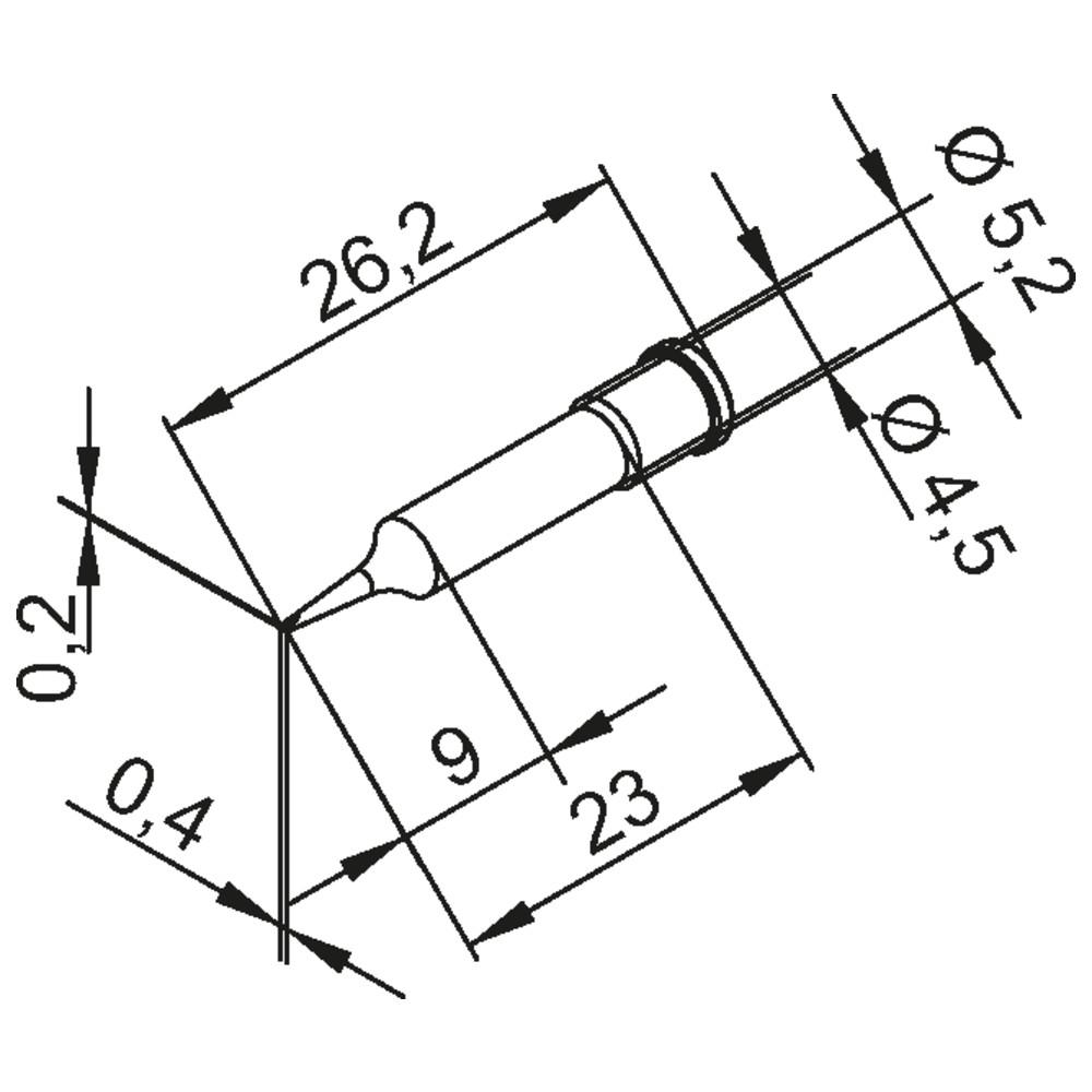 Mei/ßelform CDLF16//1,6 mm Ersa L/ötspitze Serie 0102 10 St/ück gerade