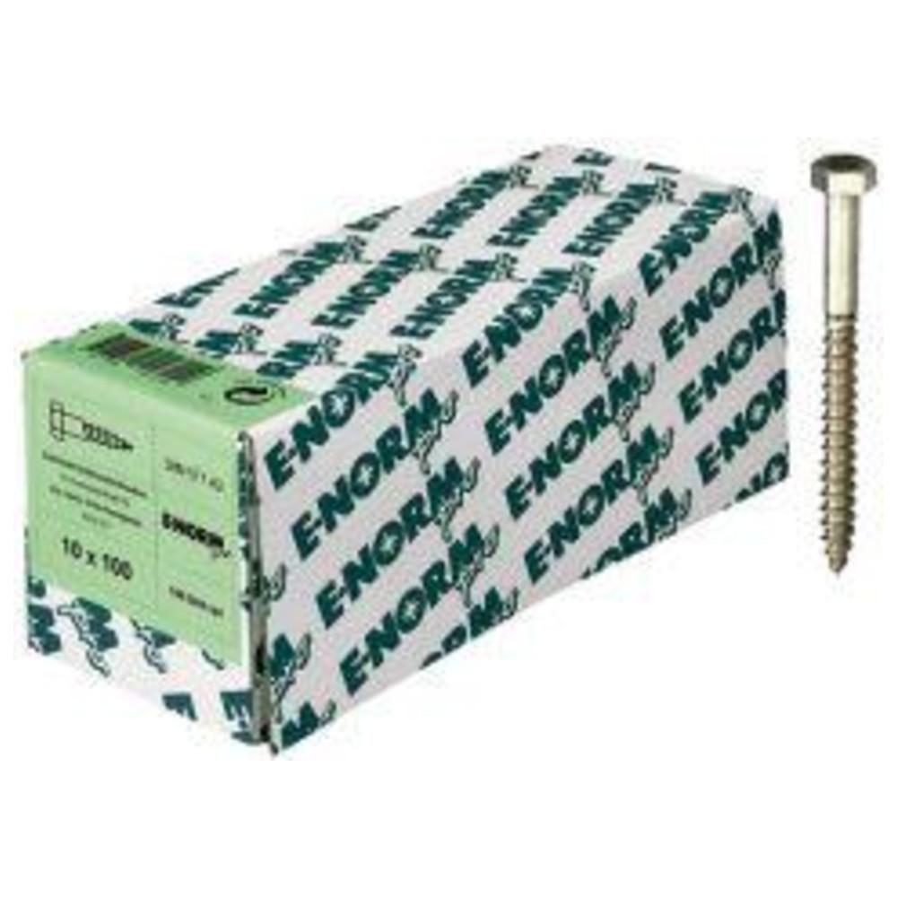 10 Sechskant Holzschrauben DIN 571 Edelstahl A2 10x140