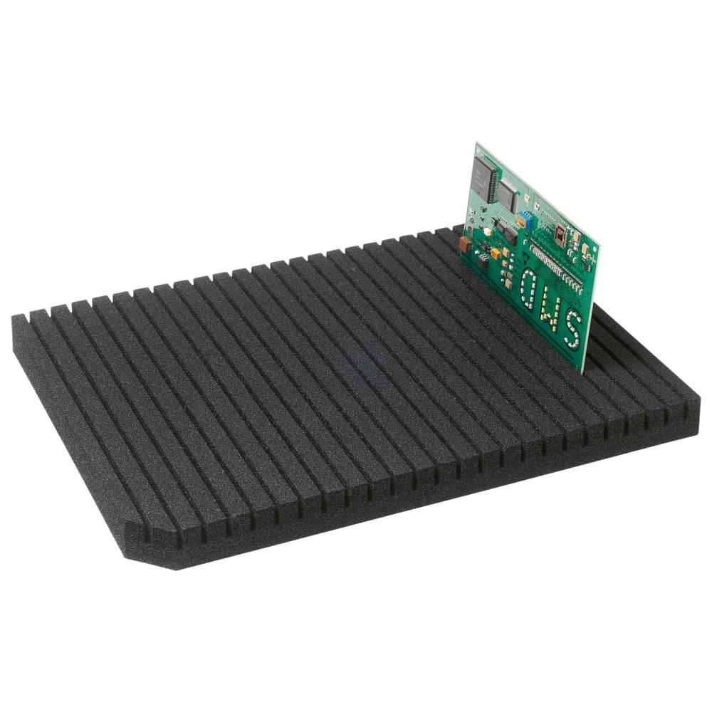 Wetec Tischbelag grün mit Druckknöpfen 610 x 1000 mm EGB//ESD dunkelgrün